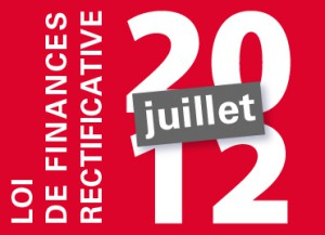 loi de finance rectificative 2012