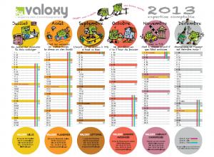 le calendrier valoxy 2013 est arriv valoxy expert. Black Bedroom Furniture Sets. Home Design Ideas