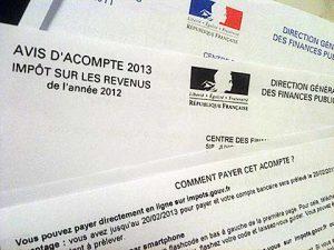 acompte impôt sur le revenu 2013 : IR