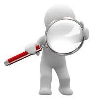 personnage regardant avec une loupe illustrant l'article qu'on va analyser la mesure sur la mutuelle obligatoire