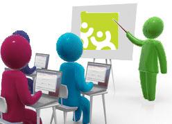 personnage dans une salle de classe pour illustrer l'information requise des représentants du personnel et des salariés