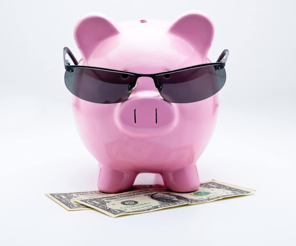 Cochon rose représentant les paiements du RSI