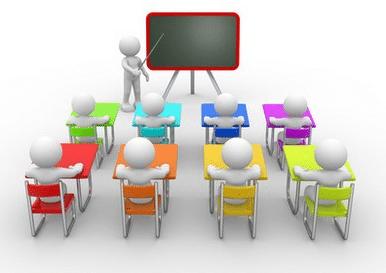 personnages dans une salle de réunion écoutant un intervenant, pour illustrer le CE, le CHSCT et les salariés qui doivent être informés par l'employeur de sa volonté de mettre en place des entretiens annuels d'évaluation