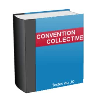 Convention collective en format livre, à la couverture bleue